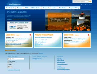 investor.pgecorp.com screenshot