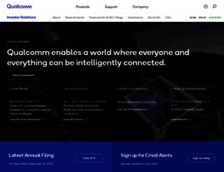 investor.qualcomm.com screenshot