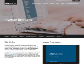 investor.realnetworks.com screenshot