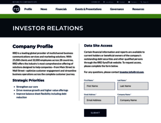 investor.rrd.com screenshot