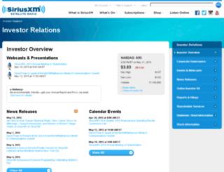 investor.sirius.com screenshot
