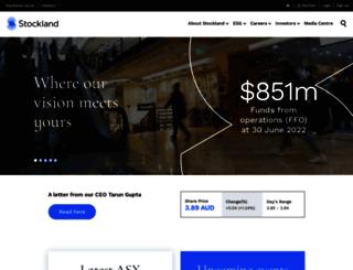 investor.stockland.com.au screenshot