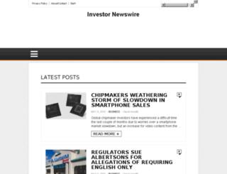 investornewswire.com screenshot