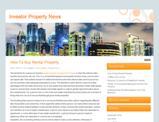 investorpropertynews.com screenshot