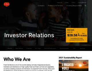 investorrelations.freshdelmonte.com screenshot