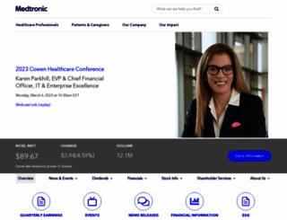 investorrelations.medtronic.com screenshot