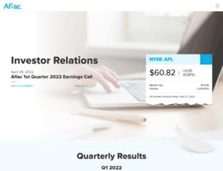 investors.aflac.com screenshot