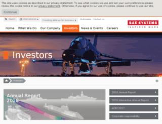 investors.baesystems.com screenshot