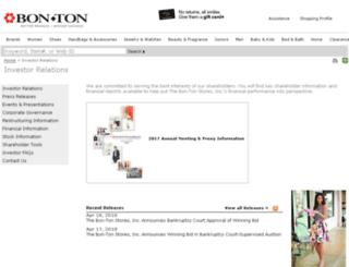 investors.bonton.com screenshot