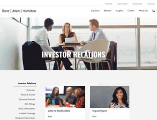 investors.boozallen.com screenshot