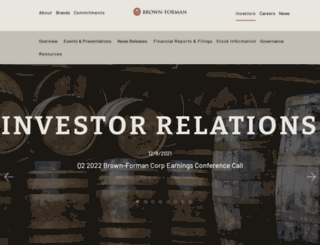 investors.brown-forman.com screenshot