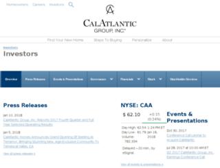 investors.calatlantichomes.com screenshot