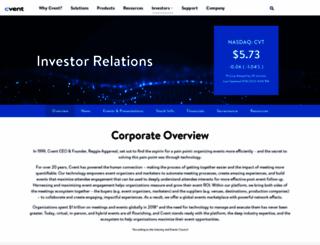 investors.cvent.com screenshot