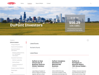 investors.dupont.com screenshot