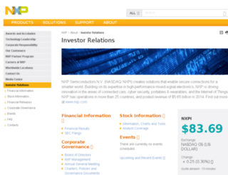 investors.freescale.com screenshot