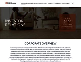 investors.lumberliquidators.com screenshot