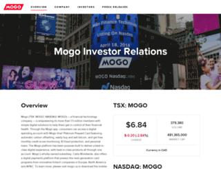 investors.mogo.ca screenshot