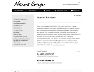 investors.newscorp.com screenshot