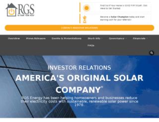 investors.rgsenergy.com screenshot