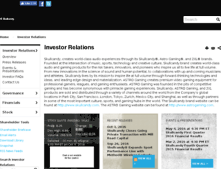 investors.skullcandy.com screenshot