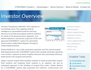 investors.skylinemedical.com screenshot
