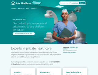 investors.spirehealthcare.com screenshot