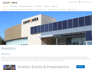 investors.sunpower.com screenshot