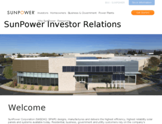 investors.sunpowercorp.com screenshot