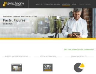 investors.synchronyfinancial.com screenshot