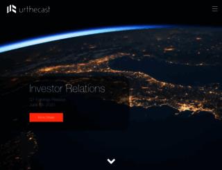 investors.urthecast.com screenshot