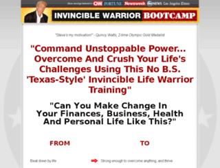 invinciblewarriorbootcamp.com screenshot