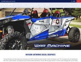 invisionartworks.com screenshot