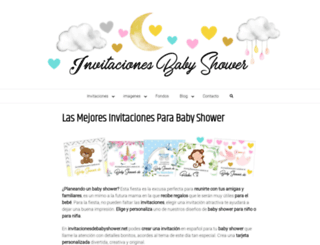 invitacionesdebabyshower.net screenshot