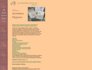 invitationelegance.invitations.com screenshot