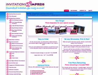 invitations2impress.com screenshot