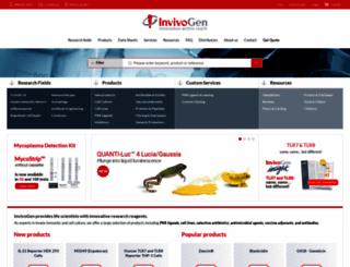 invivogen.com screenshot