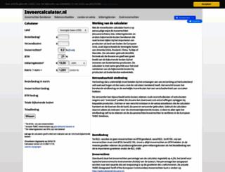 invoercalculator.nl screenshot