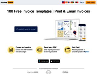 invoicehome.com screenshot