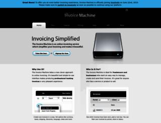invoicemachine.com screenshot
