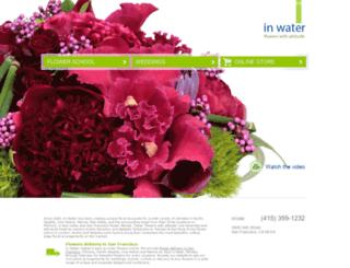 inwaterflowers.com screenshot