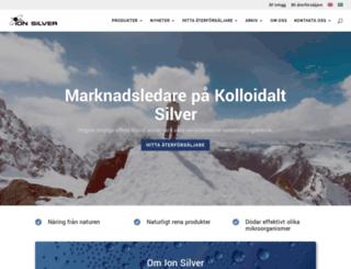 ion-silver.com screenshot