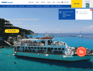 ionian-cruises.com screenshot
