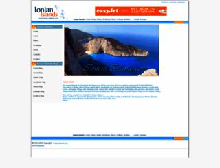 ionian-islands.com screenshot