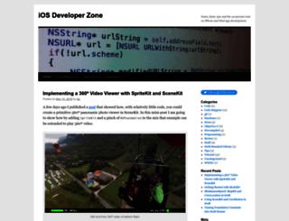 iosdeveloperzone.com screenshot
