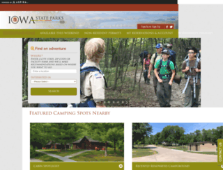 iowastateparks.reserveamerica.com screenshot