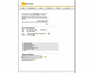 ip-lookup.net screenshot