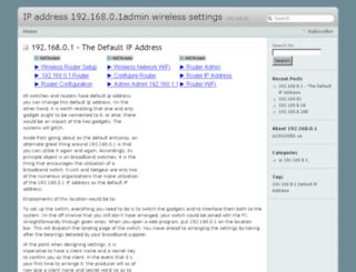 ip19216801.info screenshot