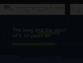 ipa.co.uk screenshot
