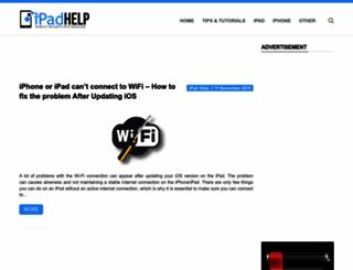 ipadhelp.com screenshot