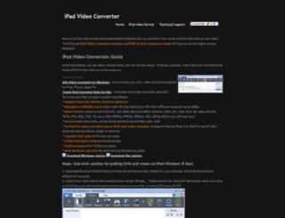 ipadvideoconverter.com screenshot
